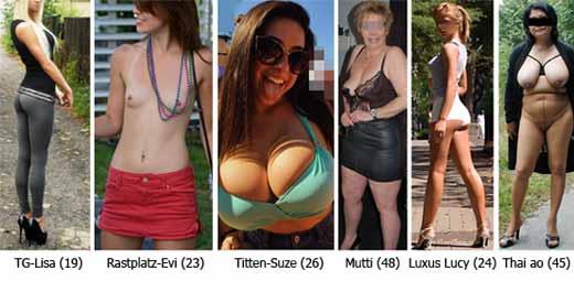 Grosse Auswahl geile Weiber von blond bis schwarz, dicke Titten oder kleine Brüste und vieles mehr